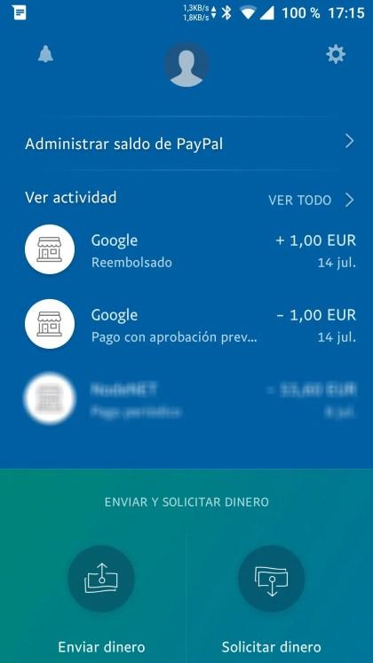 PayPal, devolución de YouTube Premium