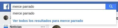 búsqueda de Facebook, persona bloqueada