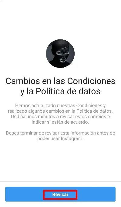 cambios en condiciones de política de privacidad