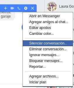 opciones del chat de facebook