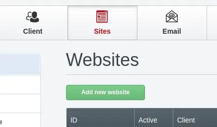 añadir nueva web