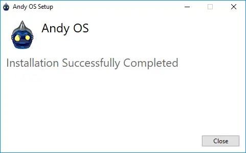 Andy OS instalado