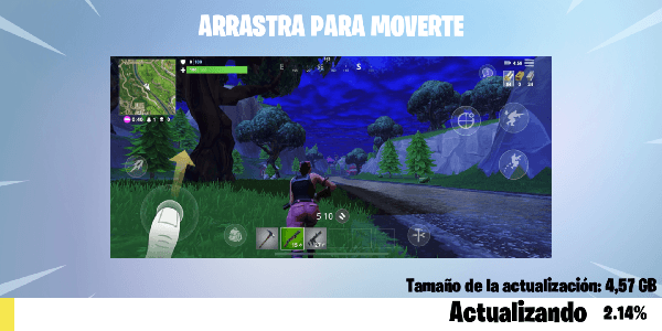 Actualizando Fortnite en Android