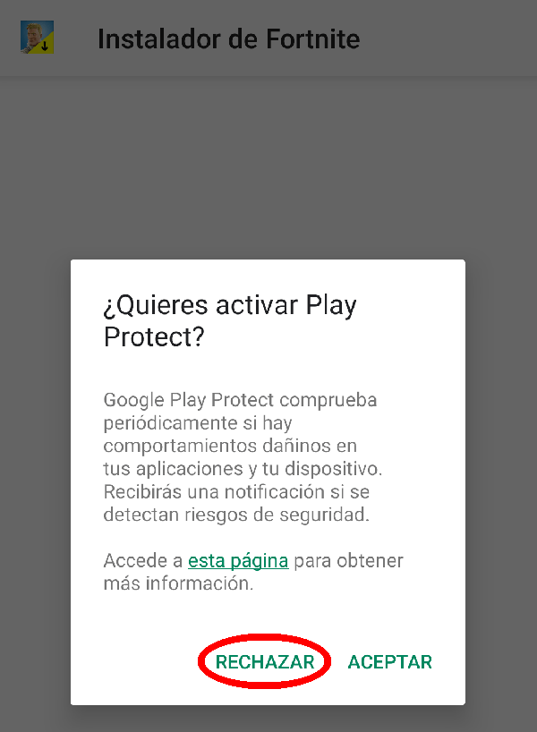 desactivar Play Protect