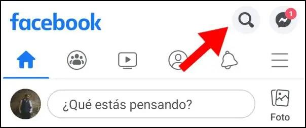 Búsqueda Facebook móvil