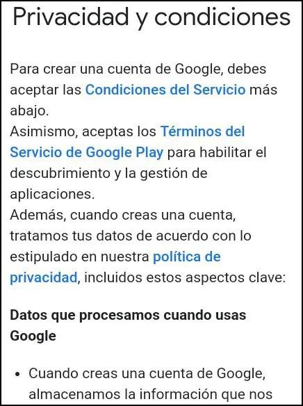 privacidad de Google