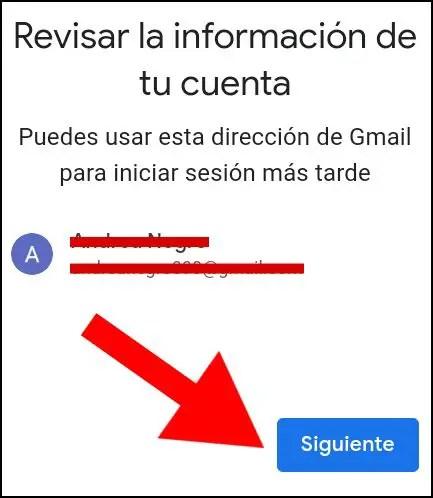 recordar correo para cuenta de Google