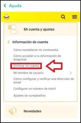 ayuda Snapchat
