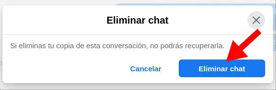 eliminar chat messenger