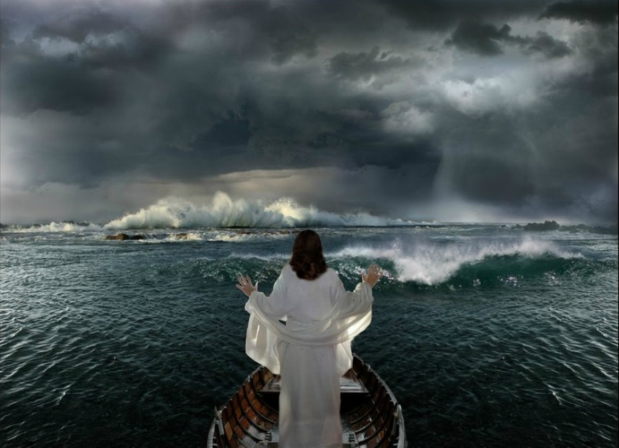 Image result for jesus calms the storm photo