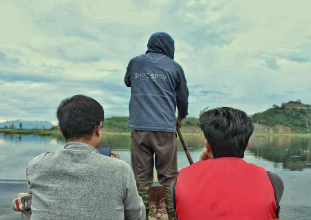 While taking a boat ride around the unexplored corners of Loktak Lake