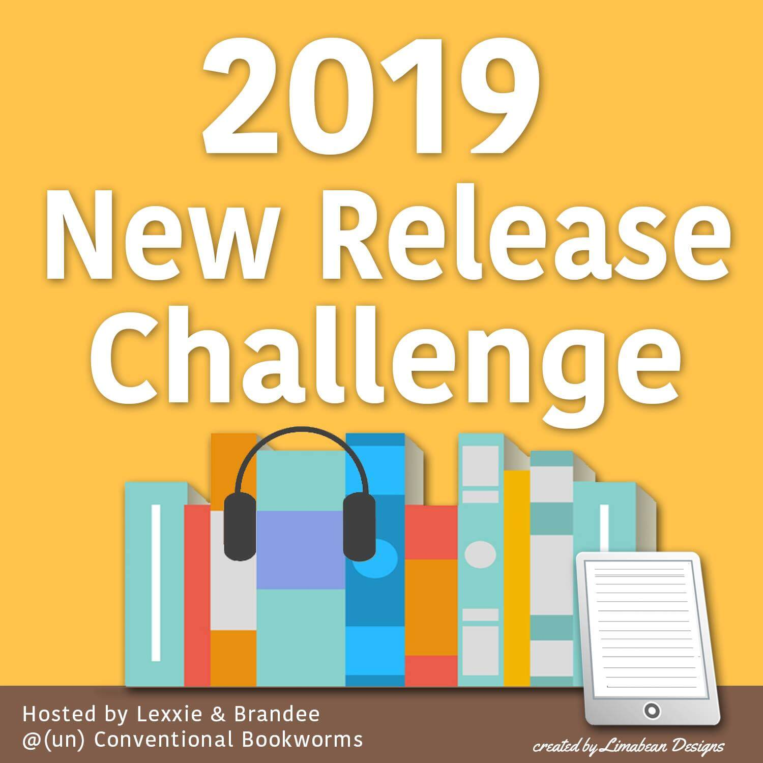 2019 New Release Challenge logo - (un)Conventional Bookworms