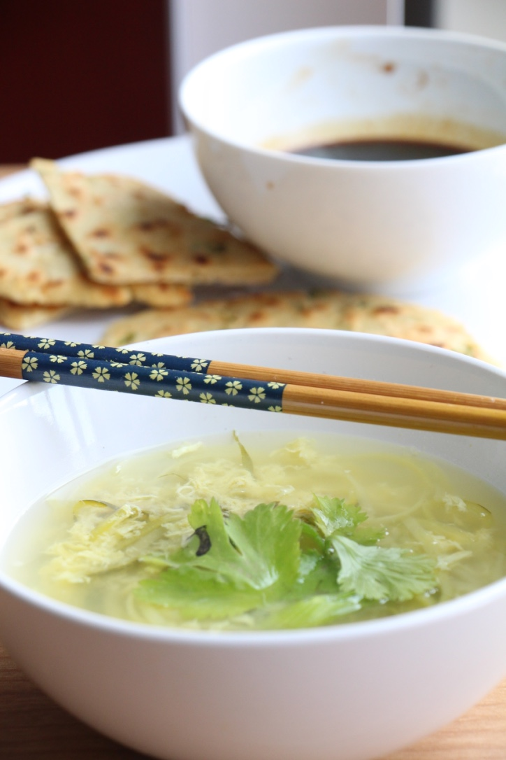 Egg Drop Soup with Zucchini Noodles (Paleo, GF, Oil-Free)