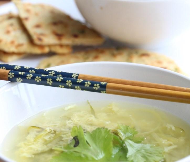 Egg Drop Soup with Zucchini Noodles (Paleo, GF, Oil-Free)