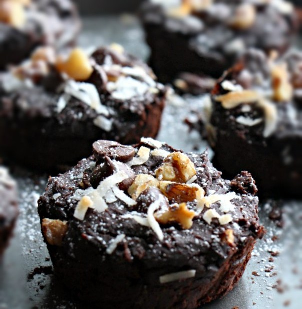1- Blender Turtle Black Bean Brownies (GF, Refined Sugar Free, Vegan)