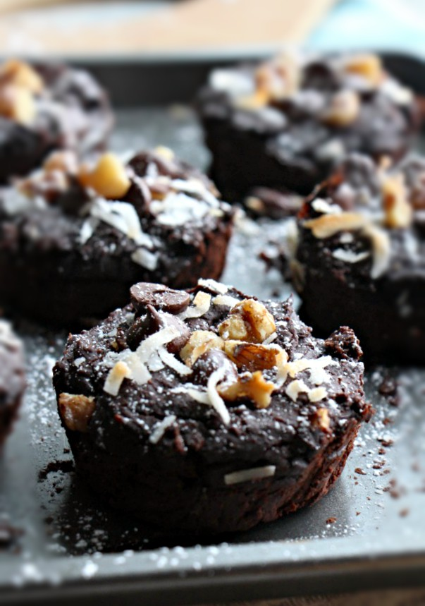 1- Blender Turtle Black Bean Brownies (GF, Refined Sugar Free, Vegan)