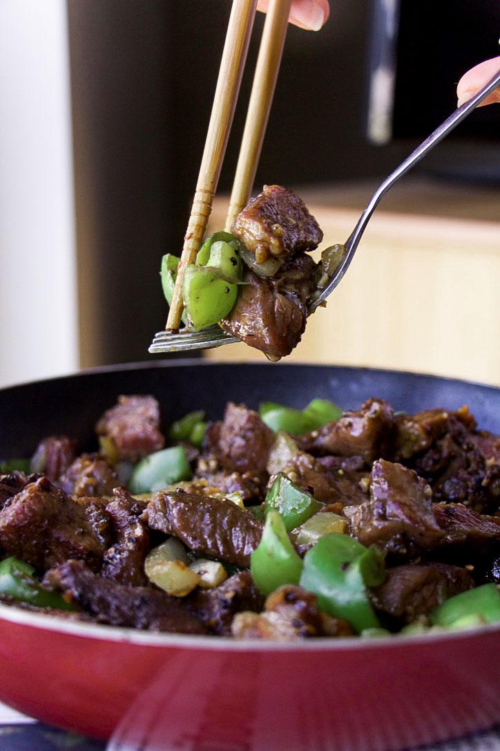 Black Pepper Beef (GF, Paleo, Oil-Free)