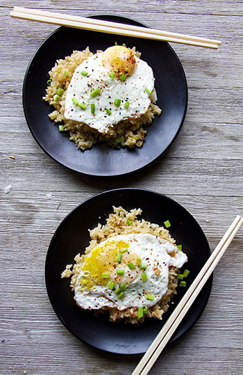 Special Soy Sauce Fried Rice (GF, Vegetarian, Oil-Free)