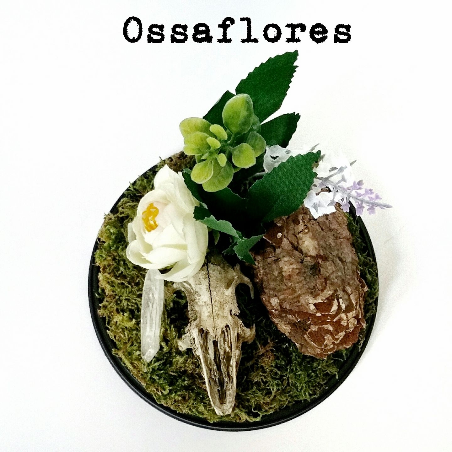 Ossaflores 9 - green - alternative wedding table centrepieces - unconventional wedding day - skulls