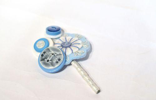 Charlotte Laurie designs - alternative button hole pale blue