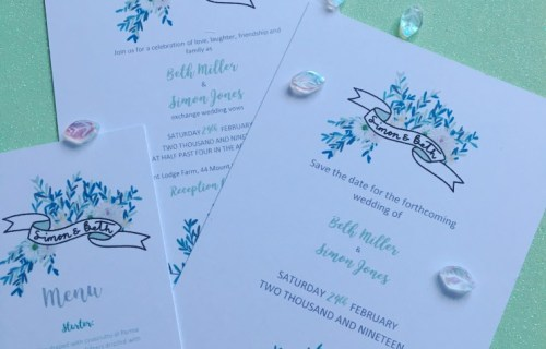 Inked by Hand Wedding Stationery 8