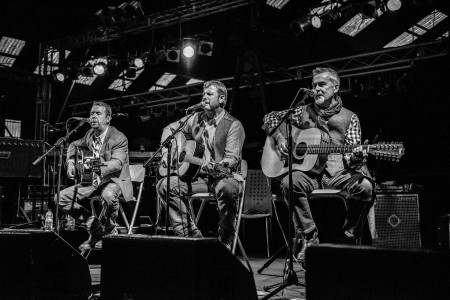 Flint, 'More and Byrne Acoustic band - B&W shot