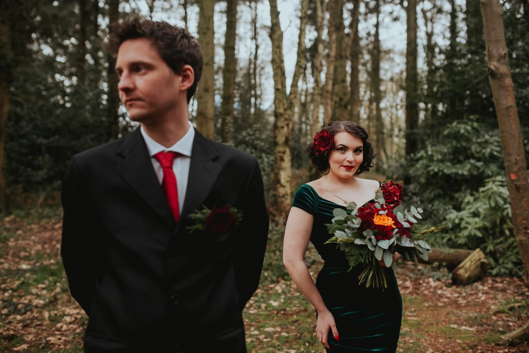 A Twin Peaks Wedding Styled Shoot - alternative - unconventional - forest