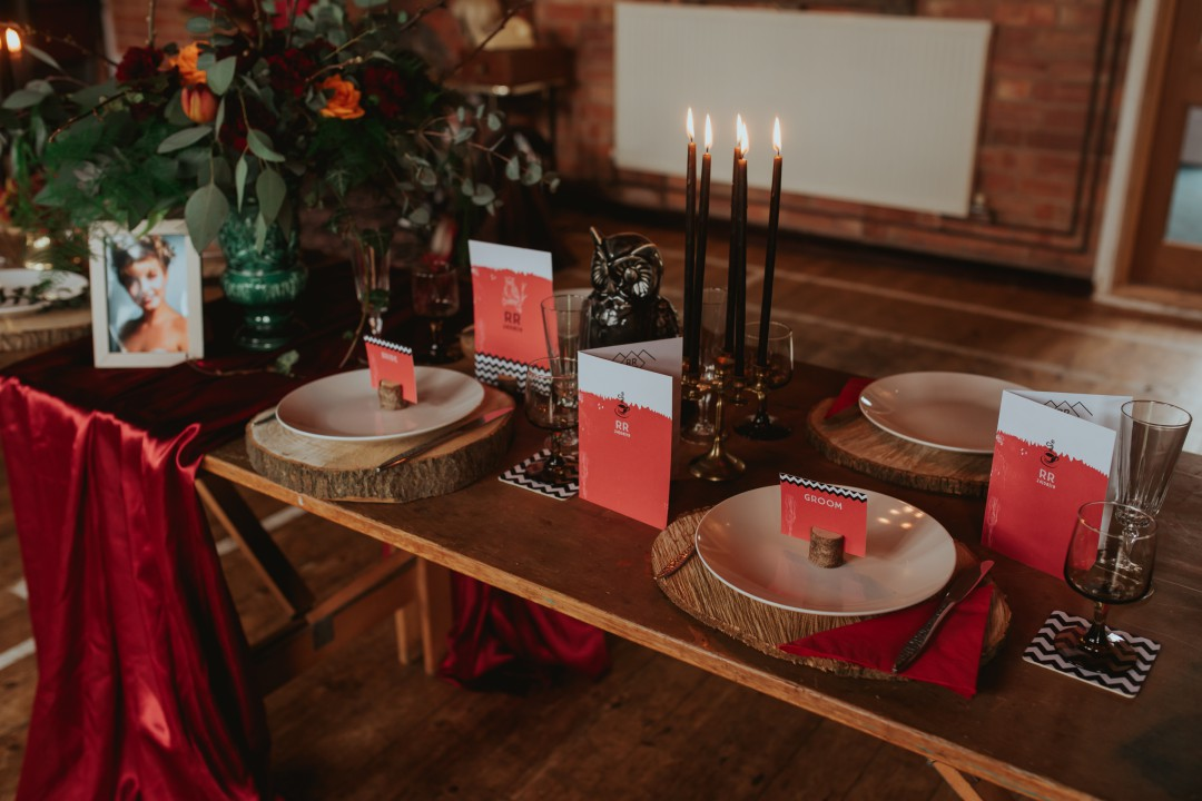 A Twin Peaks Wedding Styled Shoot - alternative - unconventional - tablescape