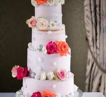 Strawberry cupcakes - wedding cake