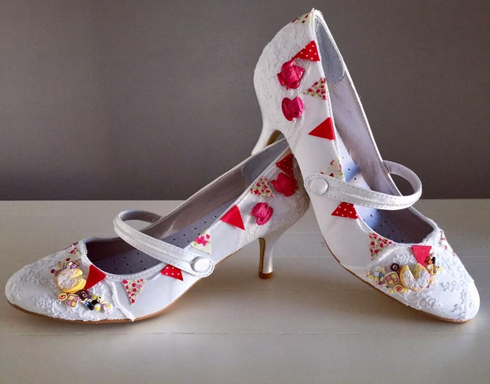 Lace and love shoes - alternative royal wedding - unconventional wedding - custom shoes