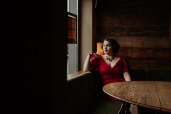 A Twin Peaks Wedding Styled Shoot - alternative - unconventional - bride by window