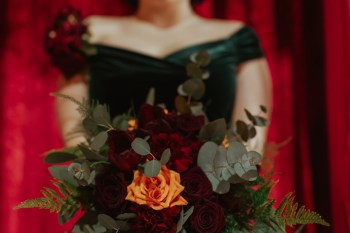 A Twin Peaks Wedding Styled Shoot - alternative - unconventional - flowers