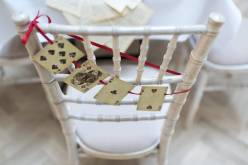 Alice in Wonderland wedding inspiration - custom table decorations - alternative and unconventional wedding