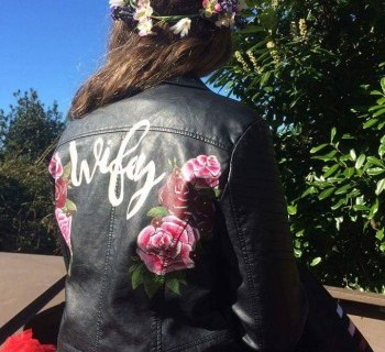 Sammy Lea's Retro Emporium - custom wifey leather jacket