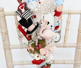 Alice in Wonderland wedding inspiration - custom bouquet jewelled - alternative and unconventional wedding