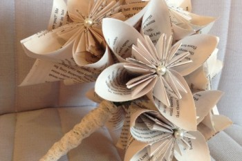 Recycled wedding company - 2 - artificial bouquet - paper - book - alternative - unconventional