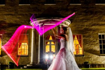 Star Wars Banner 2 - Lina and Tom Photography - light saber figher - star wars wedding - unconventional alternative wedding