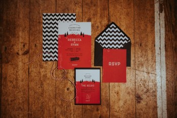 A Twin Peaks Wedding Styled Shoot - alternative - unconventional - stationery