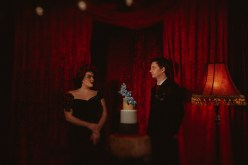 A Twin Peaks Wedding Styled Shoot - alternative - unconventional - couple and cake