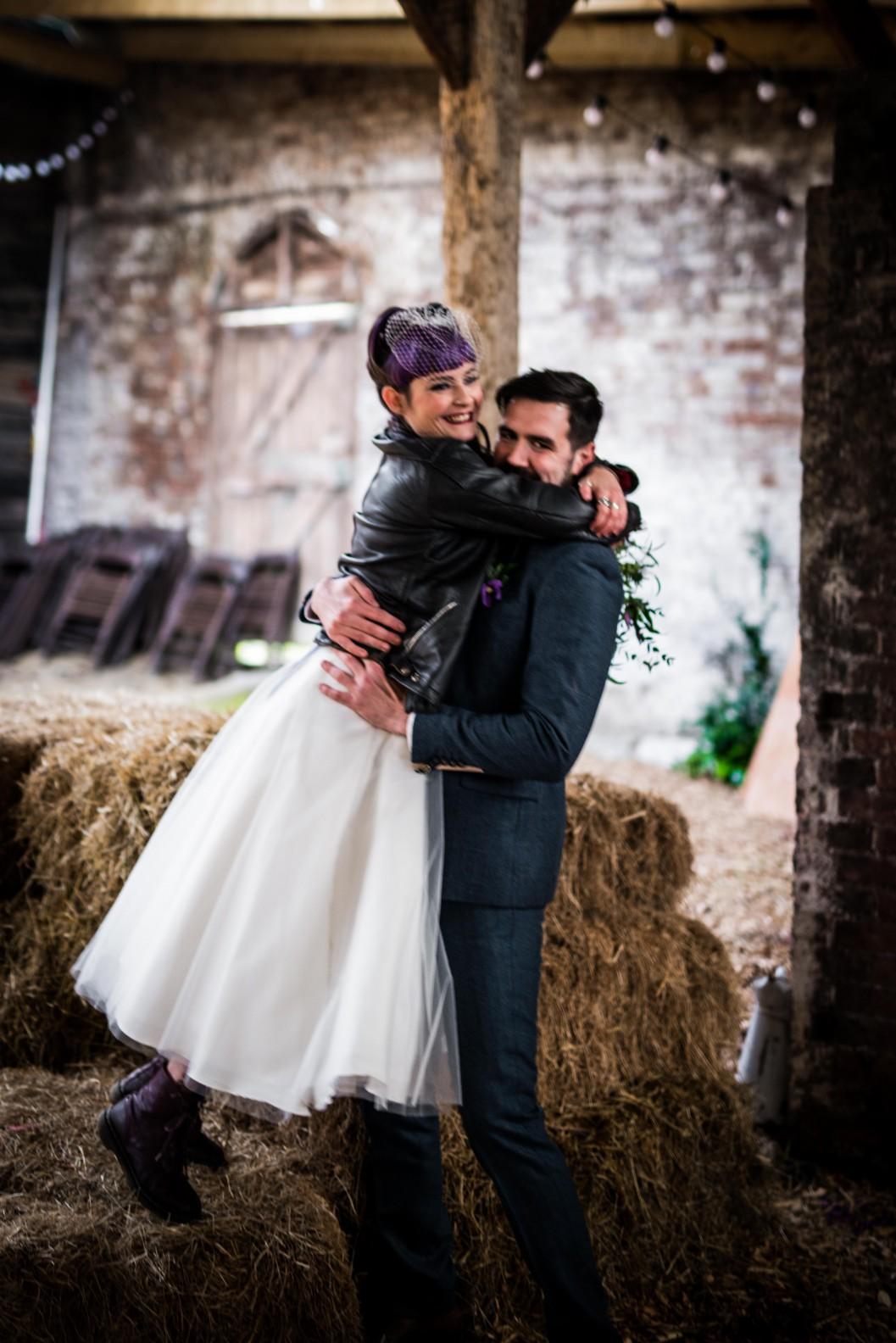 Peacock barns - alternative unconventional wedding photoshoot - rustic decadent - wedding couple