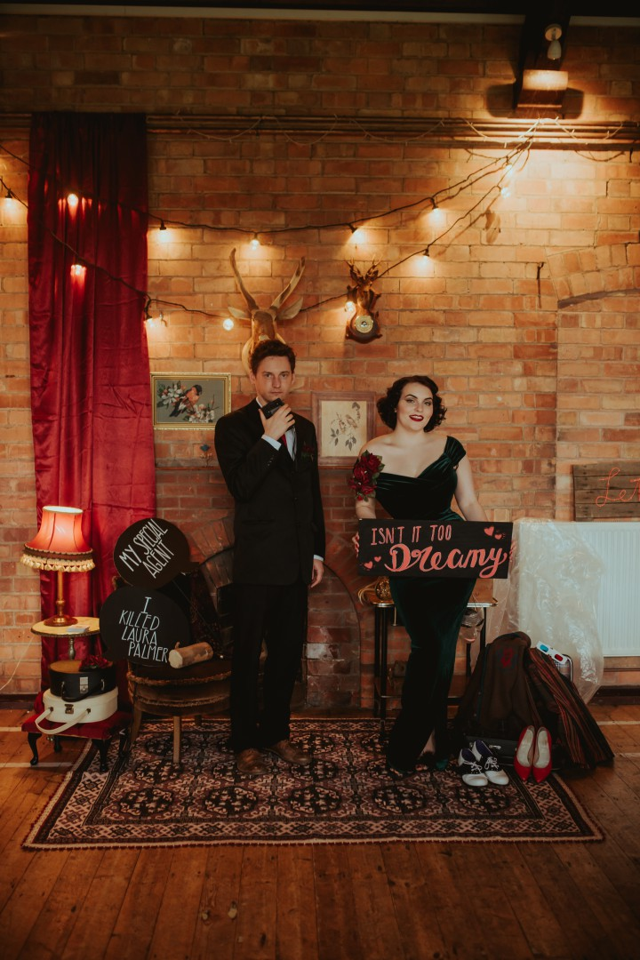 A Twin Peaks Wedding Styled Shoot - alternative - unconventional - photobooth inspiration