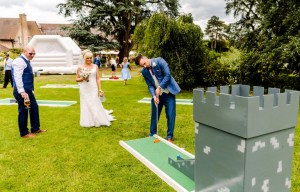 9 hole event hire - mini golf for weddings - wedding entertainment - alternative wedding entertainment 2