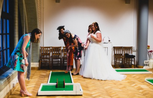 9 hole event hire - mini golf for weddings - wedding entertainment - alternative wedding entertainment 9