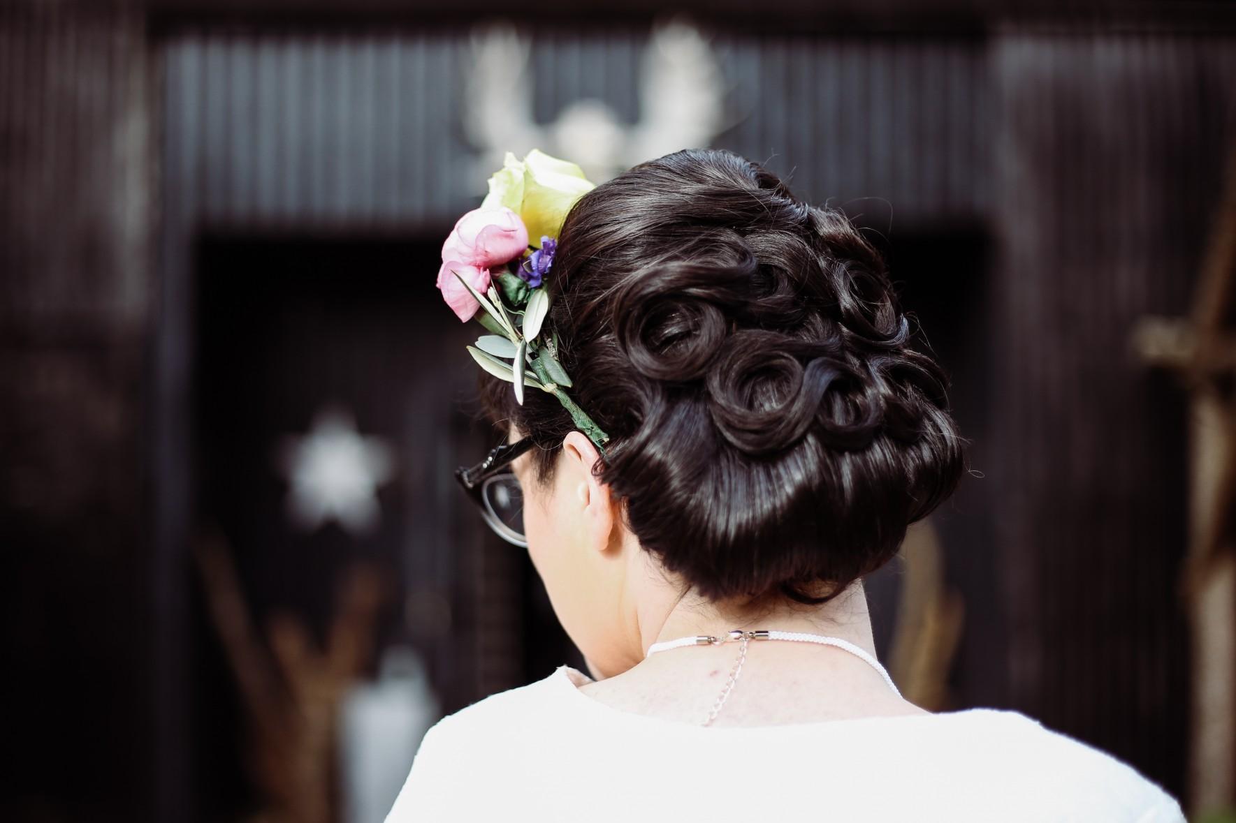 Becky Payne Photographer - Rainbow Unicorn Styled Wedding Shoot - Woods - Hair
