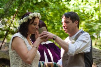 Gaynor Stickels Celebrant 3 - alternative wedding ceremony - hand fasting - outdoor wedding