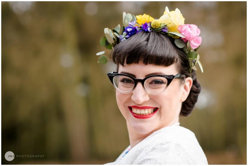 Jemma Mickleborough Photographer - Rainbow Unicorn Wedding - Northstar Club - Flower crown