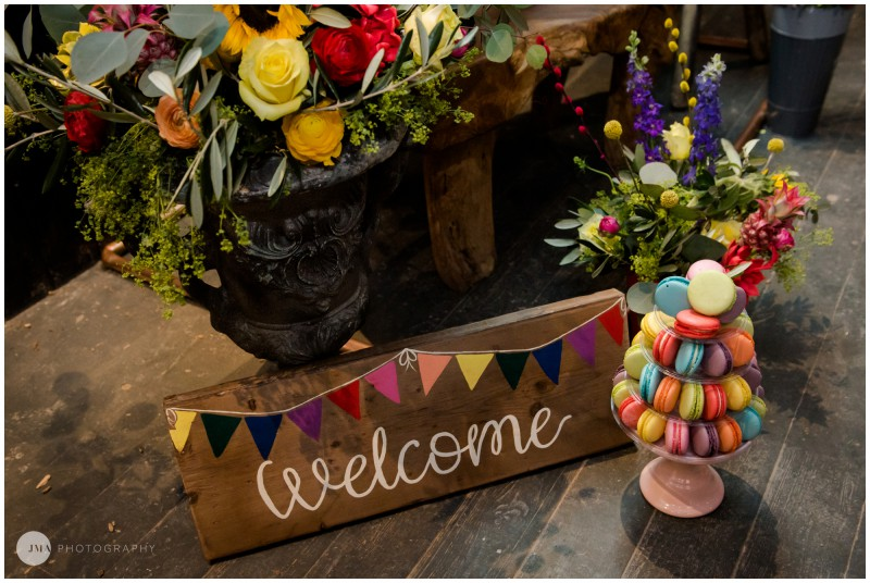 Jemma Mickleborough Photographer - Rainbow Unicorn Wedding - Northstar Club - Welcome sign
