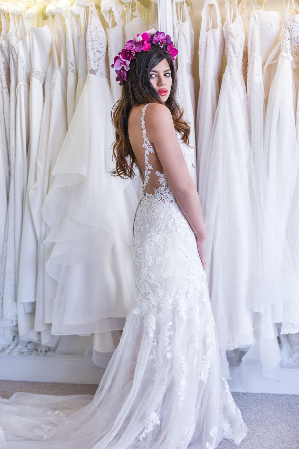 May & Grace Bridal - 3 alternative bridal looks 6 - pink flower crown