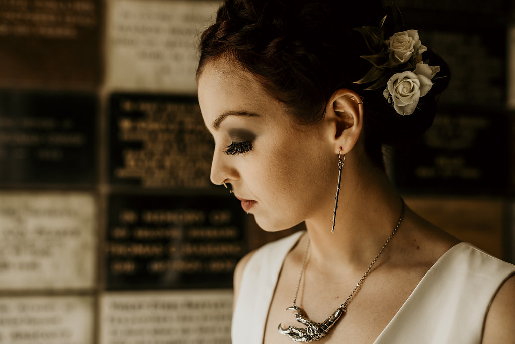 Chloe Mary Photography - Babes with the Power wedding - Rebel Rebel - Alternative wedding - Gothic wedding 29