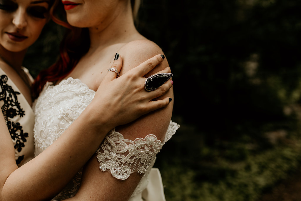 Chloe Mary Photography - Babes with the Power wedding- Rebel Rebel - Alternative wedding - Gothic wedding 13